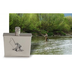 Fly fishing themed lasered...