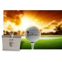 Golfer themed lasered 2oz...