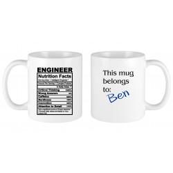 Engineer nutritional facts MUG