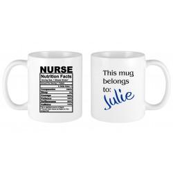 Nurse nutritional facts MUG
