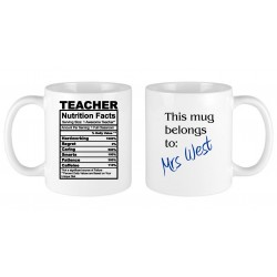 Teacher nutritional facts MUG