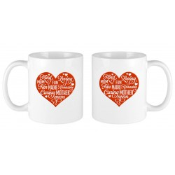 Caring Mother solid heart mug