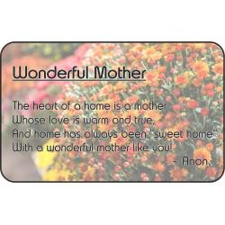 Wonderful Mother Keepsake...